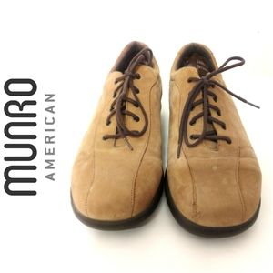 MUNRO AMERICAN LACE UP OXFORD SHOES - TAN